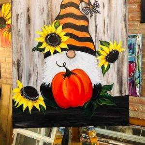 Fall Gnome Paint & Sip Party