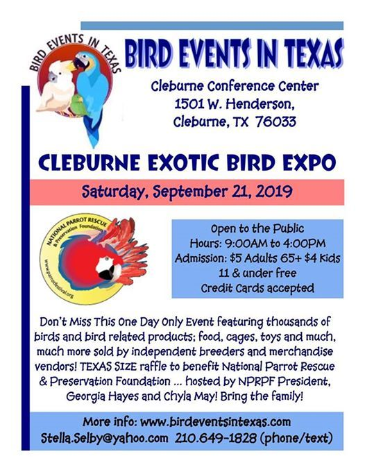 Cleburne Exotic Bird Fair at Cleburne Conference Center