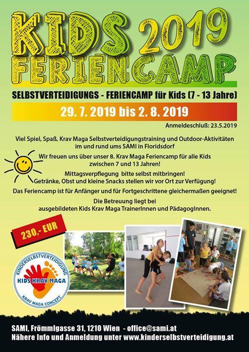 Feriencamp fr Kids (7-13 Jahre) - Kids Krav Maga