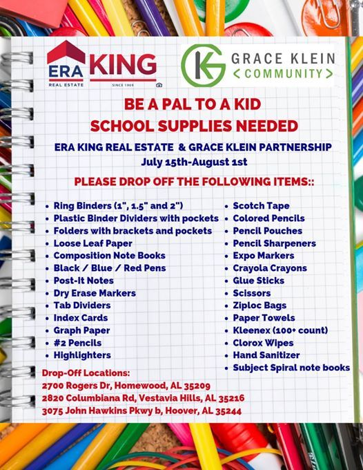 School Supply Drive at ERA King Birmingham, Birmingham