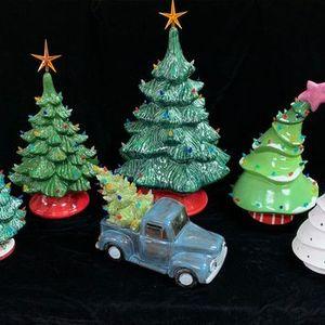 Vintage Christmas Tree Painting Workshop - 2