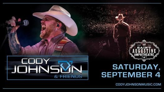 Cody Johnson (New Date), 4 September | Event in Saint Augustine | AllEvents.in