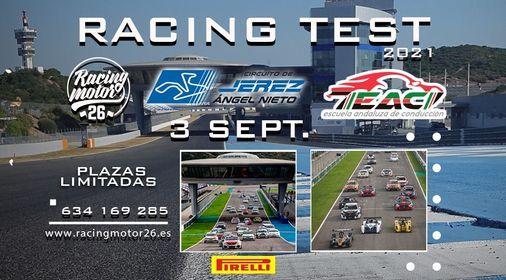 Racing Test - Circuito Jerez, 3 Sept. 2021 / Racing Motor26-Escuela Andaluza Conducción, 3 September | AllEvents.in