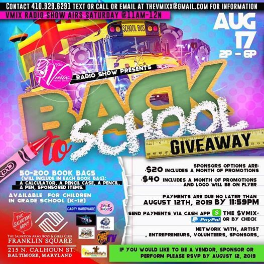 Back to School Giveaway by The VMix & The Boys & Girls Club at