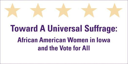 Toward A Universal Suffrage Exhibition, 10 November | Event in Bettendorf | AllEvents.in