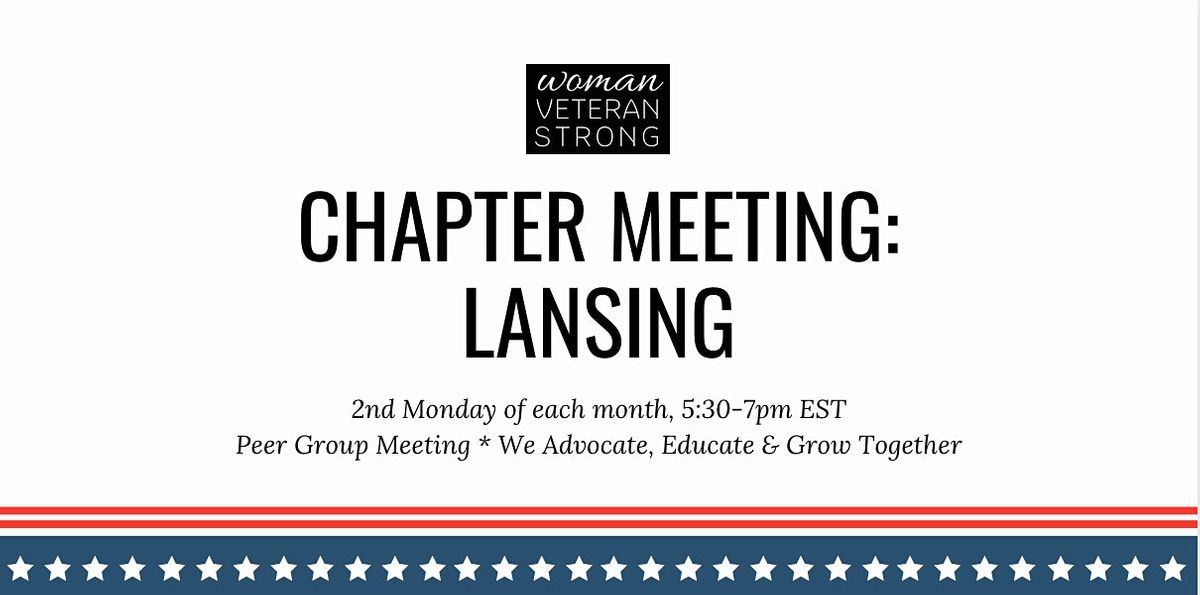 Woman Veteran Strong: Chapter Meeting (Lansing) | Online Event | AllEvents.in