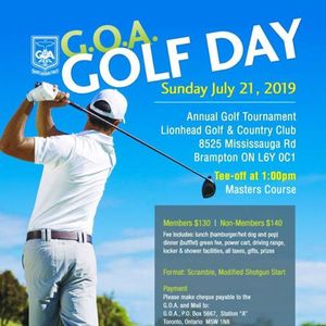 G.O.A Golf Day 2019