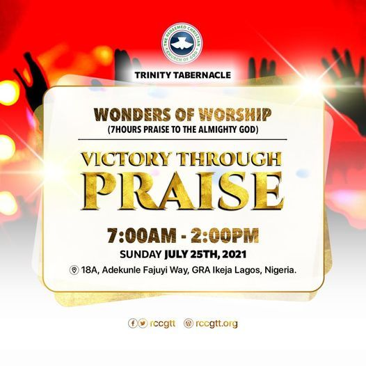 Wonders of Worship by RCCG Trinity Tabernacle   Event in Lagos   AllEvents.in