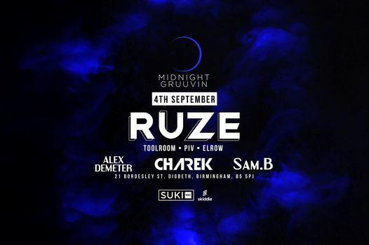 Midnight Gruuvin Presents Ruze @ Suki10c, 4 September | Event in Birmingham | AllEvents.in