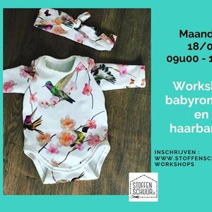 Workshop babyromper en haarbandje