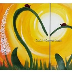 Online painting - Mothers Day Mommy & Me - CorknCanvasIowa