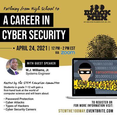 100 Black Men of Greater Washington DC Chapter Cyber Security Workshop