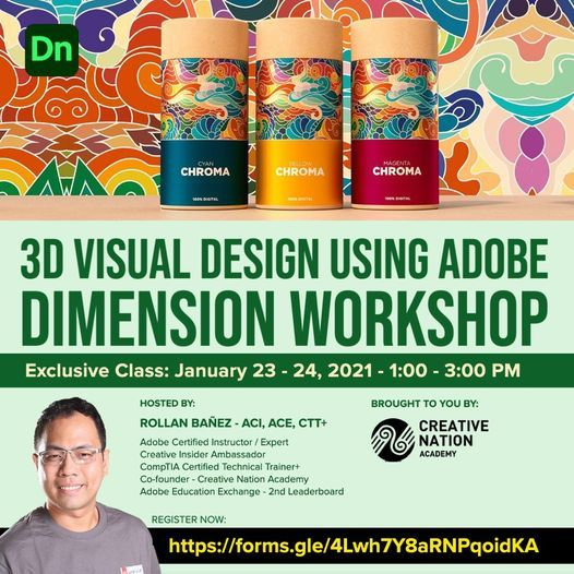 3D Visual Design using Adobe Dimension Workshop, 23 January | Online Event | AllEvents.in
