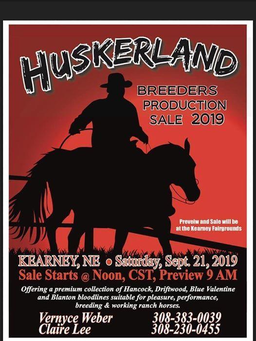 Huskerland Breeders Production Sale 2019