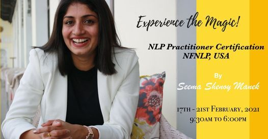 NLP Practitioner Certification, NFNLP USA, 17 February | Online Event | AllEvents.in