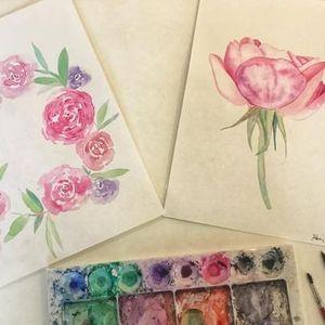 Roses in Watercolour