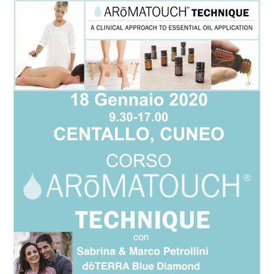 Corso dTERRA AROMATOUCH TECHNIQUE a CUNEO con Marco & Sabrina Petrollini