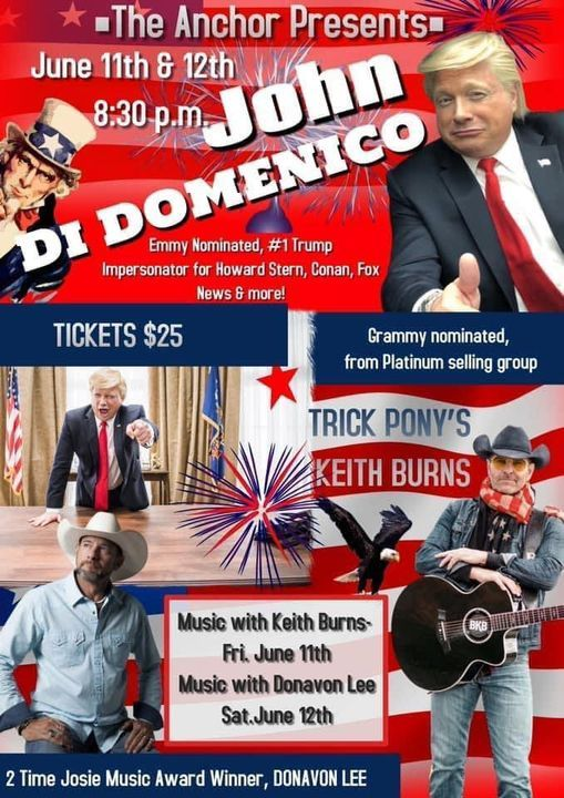 Donavon Lee and Comedian John Domenico at The Anchor | Event in Flagler Beach | AllEvents.in