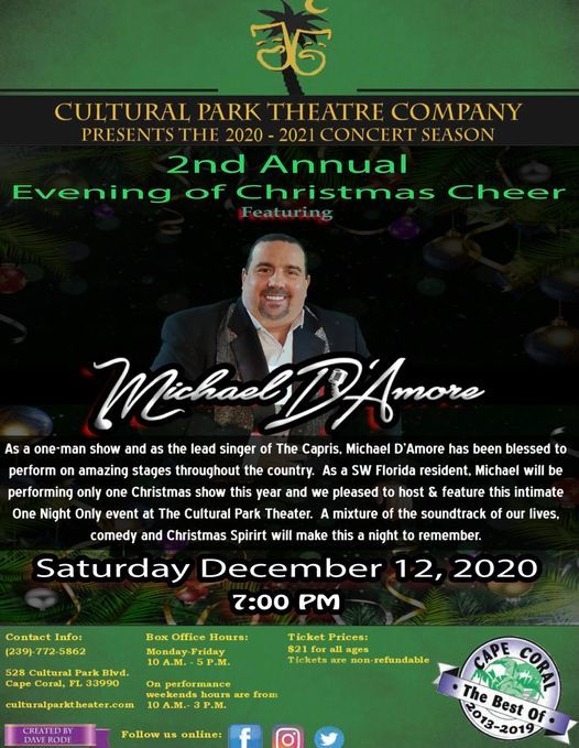 Michael DAmore Evening of Christmas Cheer, Cultural Park Theater