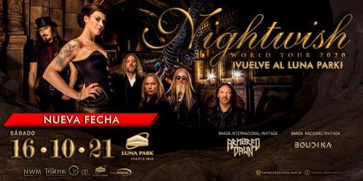 Nightwish en Argentina - Estadio Luna Park (16/10/2021), 16 October | Event in Buenos Aires | AllEvents.in