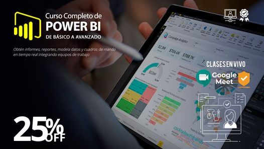 Curso completo de Power BI (Curso en Vivo), 5 June | Online Event | AllEvents.in