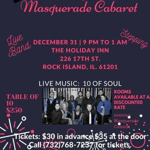 Quad Cities Events May 2020.Nye Bash With 10 Of Soul At Holiday Inn Rock Island Quad