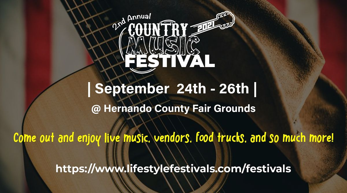 2nd Annual Country Music Festival, 24 September | Event in Brooksville | AllEvents.in
