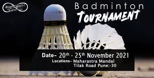 Badminton Tournament 2021, 20 November   Event in Pune   AllEvents.in