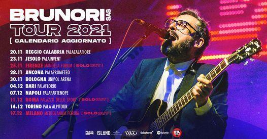 Brunori SAS -Posticipato al 11 dicembre 2021 Roma, Palazzo dello Sport, 11 December | Event in Rome | AllEvents.in