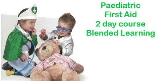 Paediatric First Aid blended learning course Market Drayton Shropshire.