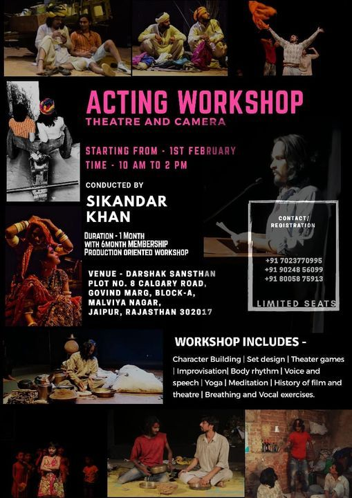 Acting  workshop (Theatre and camera), 1 February | Event in Jaipur | AllEvents.in