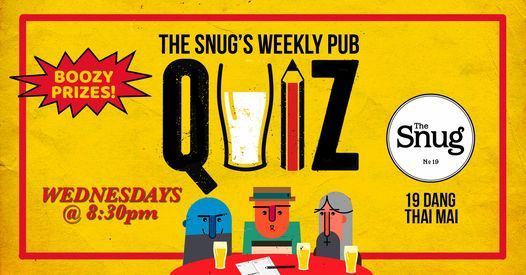 The Snug Weekly Pub Quiz, 12 May | Event in Hanoi | AllEvents.in