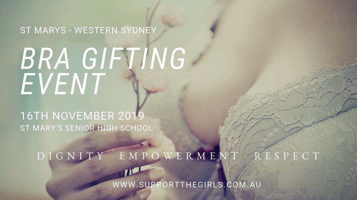 Support The Girls Bra Gifting Day -  St Marys High School