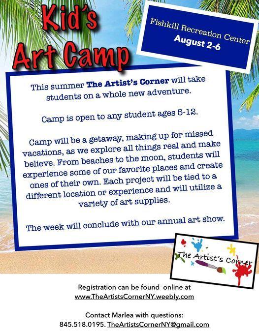 Kid's Art Camp - Fishkill, 2 August | Event in Fishkill | AllEvents.in