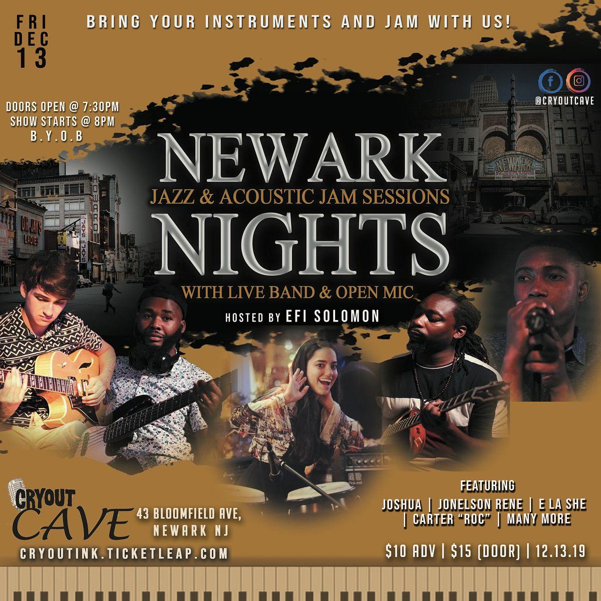 NEWARK NIGHTS Jazz & Acoustic Jam Session
