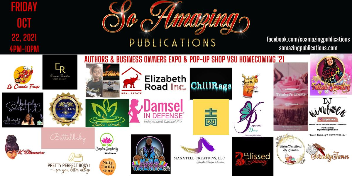 VSU Homecoming 2021 Author Expo & Business Owner Expo & Pop-Up Shop, 22 October   Event in Colonial Heights