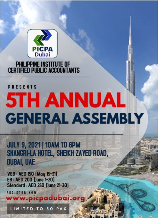 5th Annual General Assembly, 9 July | Event in Dubai | AllEvents.in