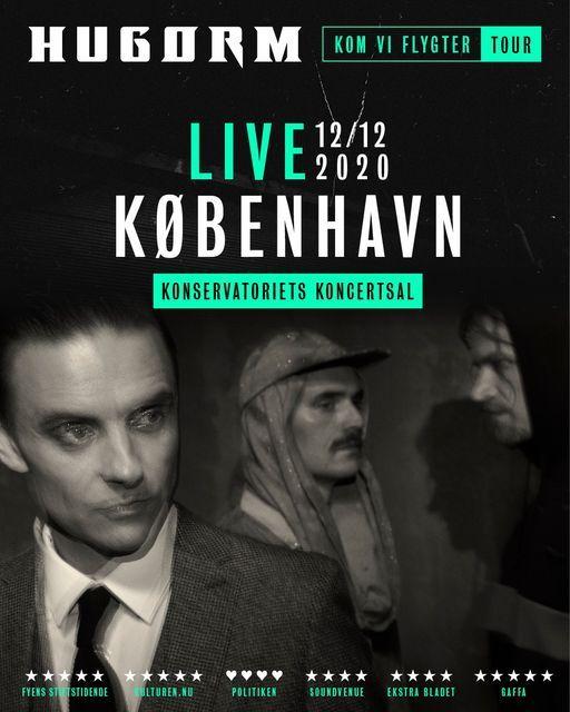 Hugorm / Konservatoriets Koncertsal / 12.12.20 (OBS: 2 shows), 12 December | Event in Frederiksberg | AllEvents.in