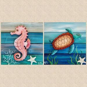 Seaturtle or Seahorse Pallet Paint Night