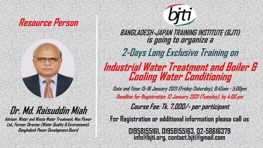 Industrial Water Treatment and Boiler & Cooling Water Conditioning | Event in Dhaka | AllEvents.in