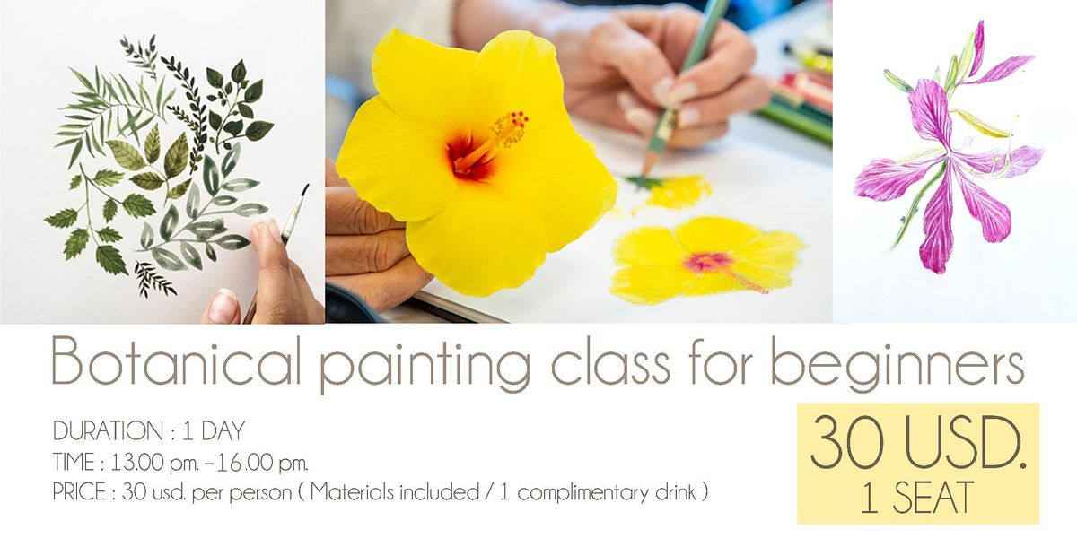 Botanical painting class for beginners, 14 August | Event in Phnom Penh | AllEvents.in