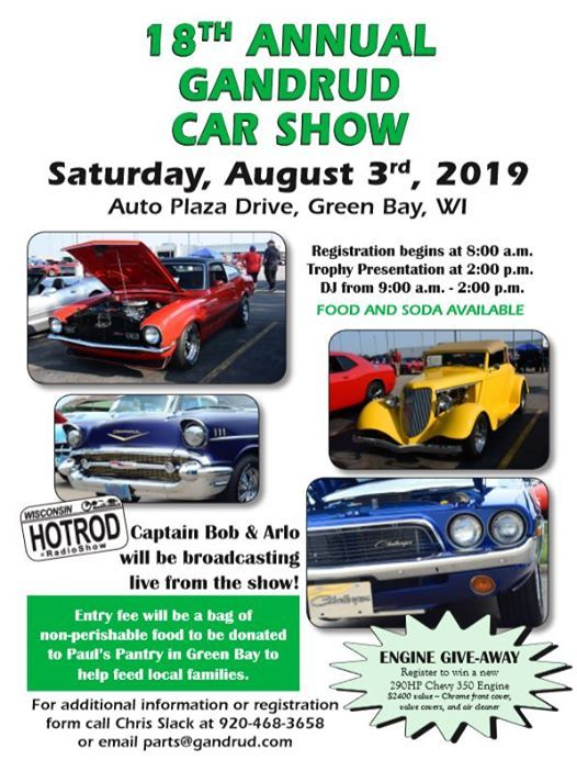 18th Annual Gandrud Car Show Gandrud Chevrolet Green Bay 3 August