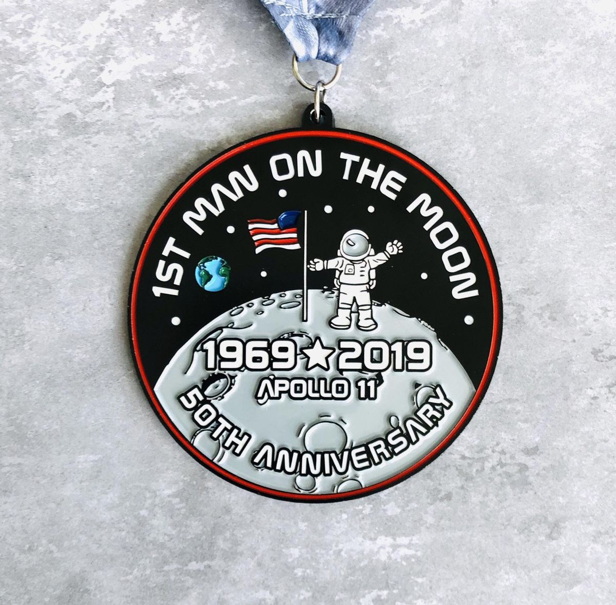 The First Man On The Moon 1 Mile 5K 10K 13.1 26.2- Los Angeles