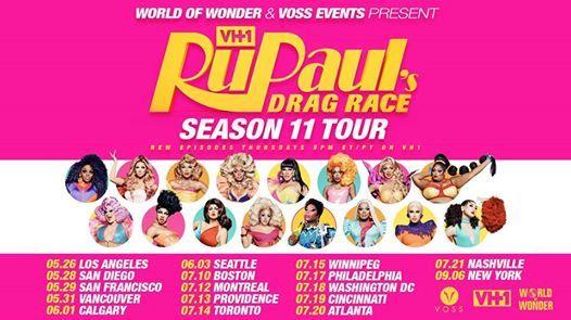 RuPauls Drag Race Season 11 Tour