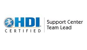 HDI Support Center Team Lead 2 Days Virtual Live Training in Sydney