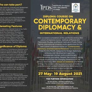 ONLINE- Diploma Course on Contemporary Diplomacy and International Relations