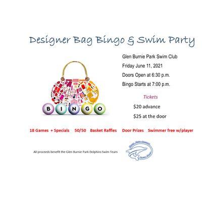 Designer Bag Bingo and Swim Party
