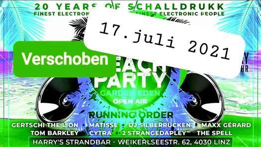 20 years of schallDRUKKBeachpartyGarden eden Open Air