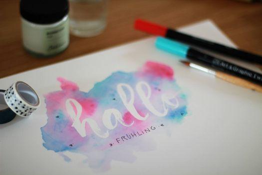 Workshop Papelier Brushlettering und Wasserfarben