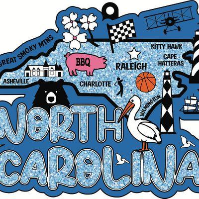 2021 Race Thru North Carolina 5K 10K 13.1 26.2-Participate from Home Save5